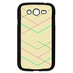 Abstract Yellow Geometric Line Pattern Samsung Galaxy Grand DUOS I9082 Case (Black)