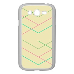 Abstract Yellow Geometric Line Pattern Samsung Galaxy Grand DUOS I9082 Case (White)