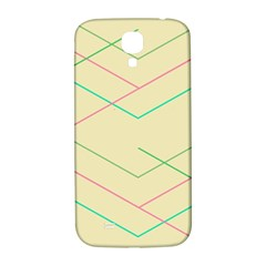 Abstract Yellow Geometric Line Pattern Samsung Galaxy S4 I9500/I9505  Hardshell Back Case