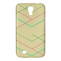 Abstract Yellow Geometric Line Pattern Samsung Galaxy Mega 6 3  I9200 Hardshell Case
