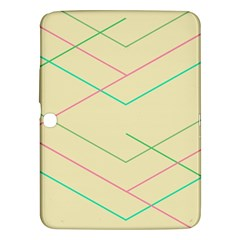 Abstract Yellow Geometric Line Pattern Samsung Galaxy Tab 3 (10.1 ) P5200 Hardshell Case