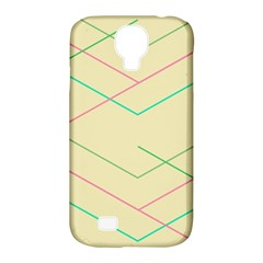 Abstract Yellow Geometric Line Pattern Samsung Galaxy S4 Classic Hardshell Case (PC+Silicone)