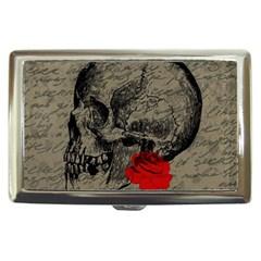Skull and rose  Cigarette Money Cases
