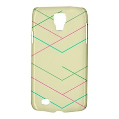 Abstract Yellow Geometric Line Pattern Galaxy S4 Active