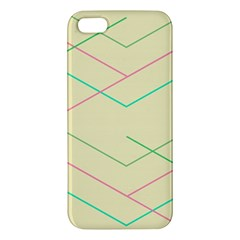 Abstract Yellow Geometric Line Pattern iPhone 5S/ SE Premium Hardshell Case