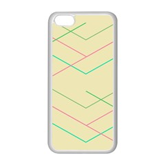 Abstract Yellow Geometric Line Pattern Apple iPhone 5C Seamless Case (White)