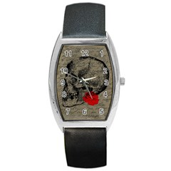 Skull and rose  Barrel Style Metal Watch