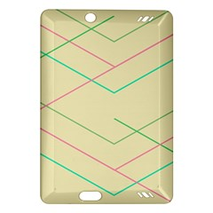 Abstract Yellow Geometric Line Pattern Amazon Kindle Fire Hd (2013) Hardshell Case