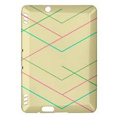 Abstract Yellow Geometric Line Pattern Kindle Fire HDX Hardshell Case