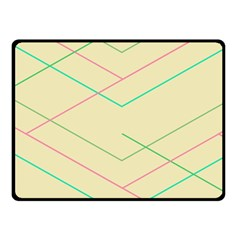 Abstract Yellow Geometric Line Pattern Double Sided Fleece Blanket (small)