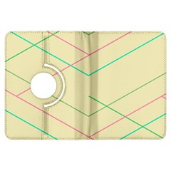 Abstract Yellow Geometric Line Pattern Kindle Fire HDX Flip 360 Case