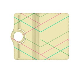 Abstract Yellow Geometric Line Pattern Kindle Fire HDX 8.9  Flip 360 Case