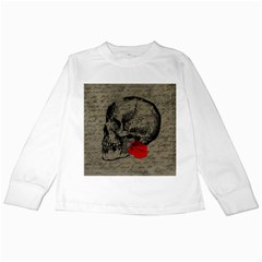 Skull and rose  Kids Long Sleeve T-Shirts
