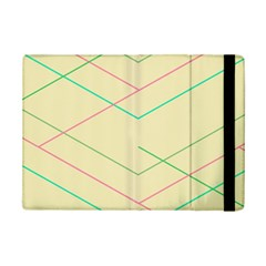 Abstract Yellow Geometric Line Pattern iPad Mini 2 Flip Cases
