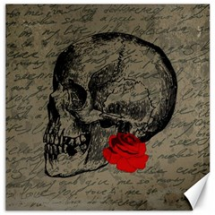 Skull and rose  Canvas 20  x 20
