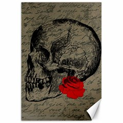 Skull and rose  Canvas 20  x 30