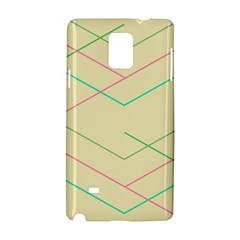 Abstract Yellow Geometric Line Pattern Samsung Galaxy Note 4 Hardshell Case