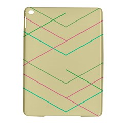 Abstract Yellow Geometric Line Pattern iPad Air 2 Hardshell Cases