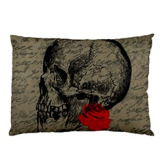 Skull and rose  Pillow Case
