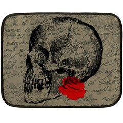 Skull and rose  Fleece Blanket (Mini)