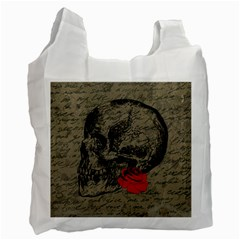 Skull and rose  Recycle Bag (One Side)