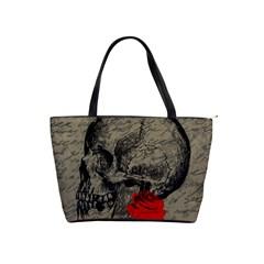 Skull and rose  Shoulder Handbags