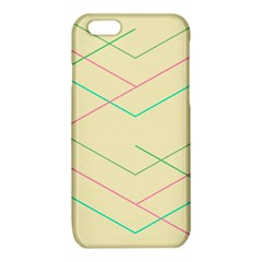 Abstract Yellow Geometric Line Pattern iPhone 6/6S TPU Case