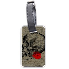 Skull and rose  Luggage Tags (One Side)