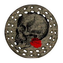 Skull and rose  Ornament (Round Filigree)