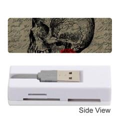 Skull and rose  Memory Card Reader (Stick)