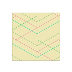 Abstract Yellow Geometric Line Pattern Satin Bandana Scarf