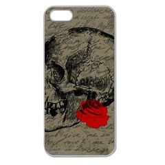 Skull and rose  Apple Seamless iPhone 5 Case (Clear)
