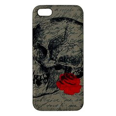 Skull and rose  iPhone 5S/ SE Premium Hardshell Case
