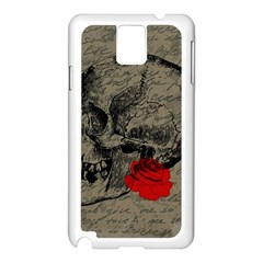 Skull and rose  Samsung Galaxy Note 3 N9005 Case (White)