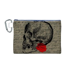 Skull and rose  Canvas Cosmetic Bag (M)