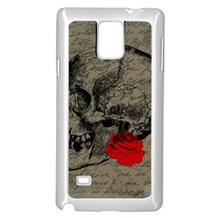 Skull and rose  Samsung Galaxy Note 4 Case (White)