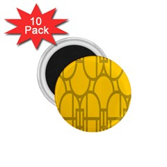 The Michigan Pattern Yellow 1 75  Magnets (10 Pack)