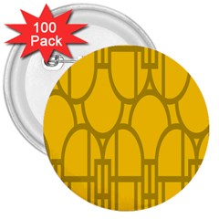 The Michigan Pattern Yellow 3  Buttons (100 pack)