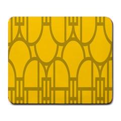 The Michigan Pattern Yellow Large Mousepads