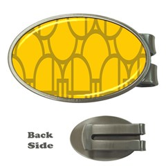 The Michigan Pattern Yellow Money Clips (oval)