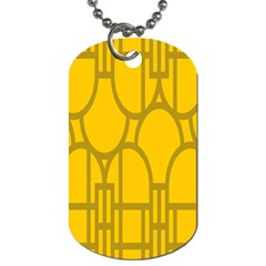The Michigan Pattern Yellow Dog Tag (One Side)