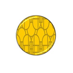 The Michigan Pattern Yellow Hat Clip Ball Marker (10 pack)