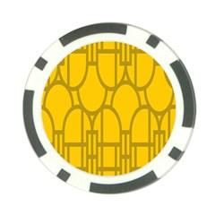 The Michigan Pattern Yellow Poker Chip Card Guard