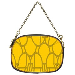 The Michigan Pattern Yellow Chain Purses (one Side)