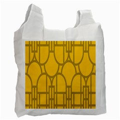 The Michigan Pattern Yellow Recycle Bag (One Side)