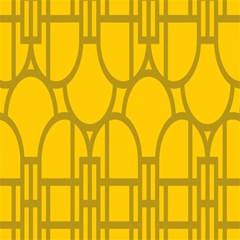 The Michigan Pattern Yellow Magic Photo Cubes