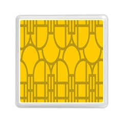 The Michigan Pattern Yellow Memory Card Reader (square)