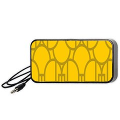 The Michigan Pattern Yellow Portable Speaker (Black)