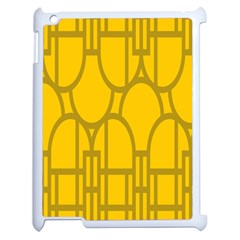 The Michigan Pattern Yellow Apple iPad 2 Case (White)