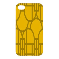The Michigan Pattern Yellow Apple iPhone 4/4S Hardshell Case